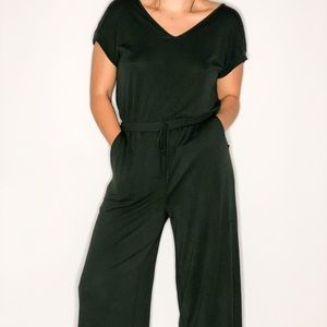 PHILOSOPHY REPUBLIC CLOTHING JUMPSUIT IN GREEN